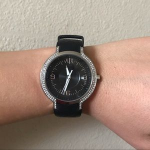 Armani exchange black watch